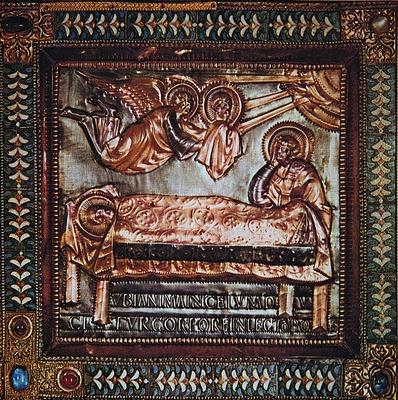 фото фрагмента алтаря в базилике Святого Амброзио Миланый