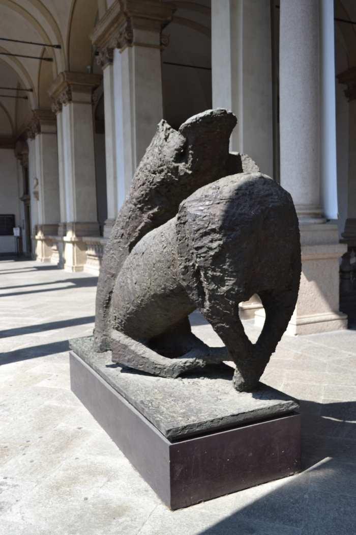 фото скульптуры Чудо (Miracolo) современного итальянского скульптора Marino Marini