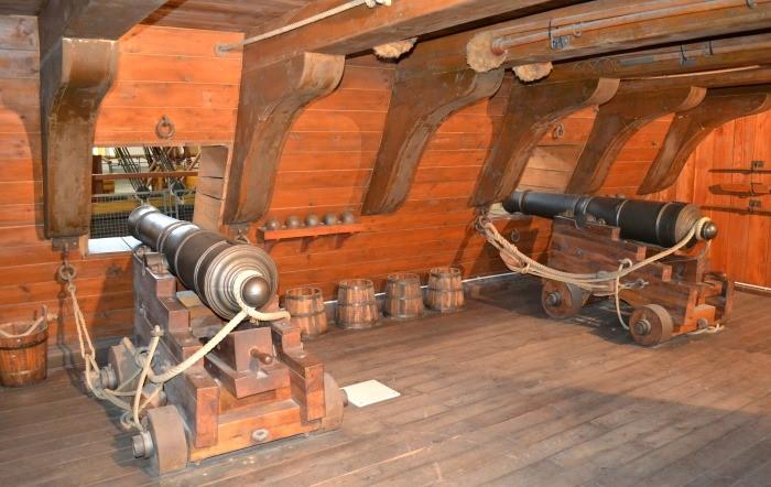 фото шхуны изнутри в музее Науки и техники имени Леонардо да Винчи Милан