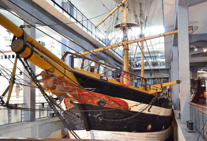 фото шхуны в Музее науки и техники имени Леонардо да Винчи Милан