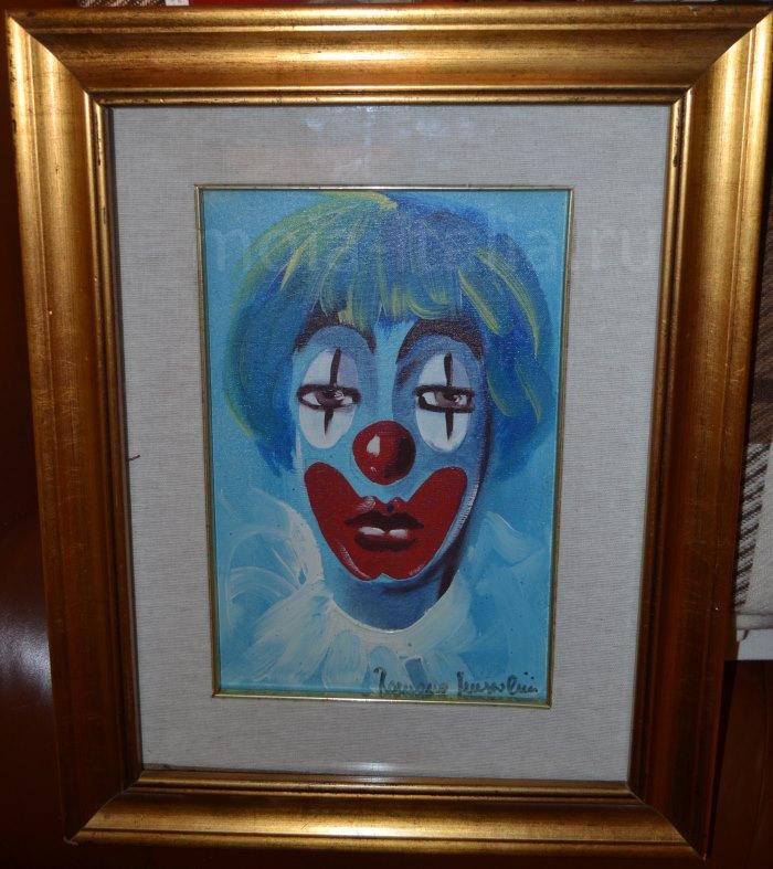 """фото """"Голубого клоуна"""" работы сына Муссолини Romano Mussolini"""