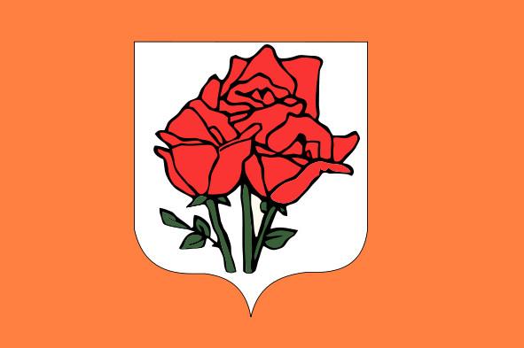 фото Герба Острова Роз на государственном флаге