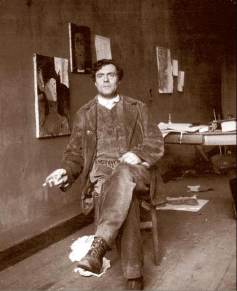 modigliani-nel-suo-atelier-2,-foto-di-paul-guillaume-(parigi-1915_468)