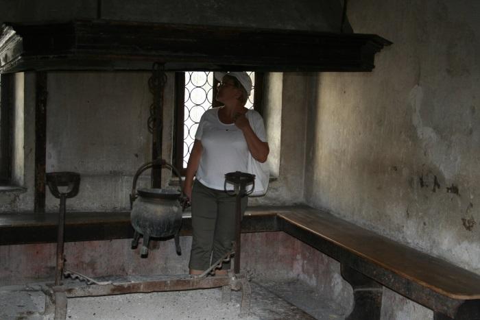 фото очага в доме Тициана Италия