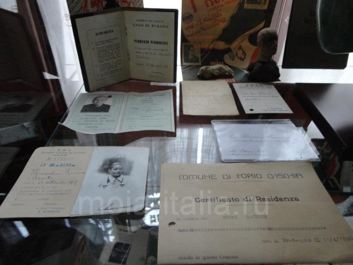 фото личных документо-паспорт, удостоверения личности, свидетельства о рождении членов семьи Муссолини