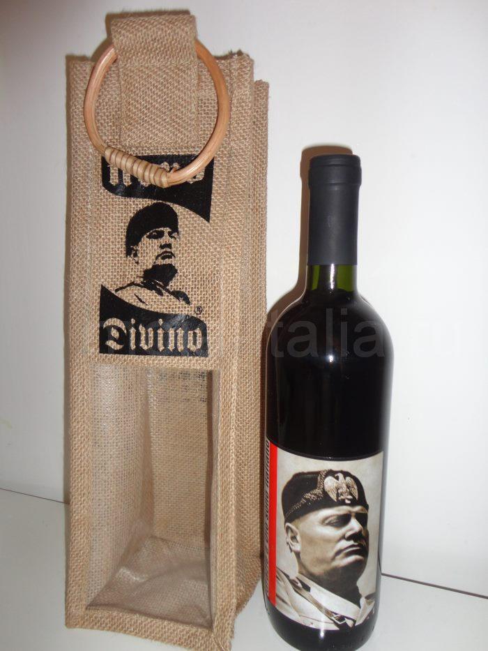 "фото бутылки вина ""Sangiovese"" с портретом Муссолини"