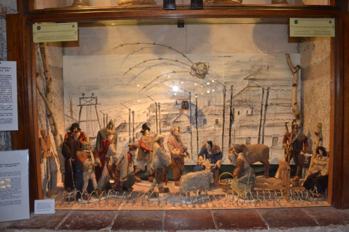 фото Рождественской композиции, датируемая 1943 годом в базилике Св.Амброзио Милан